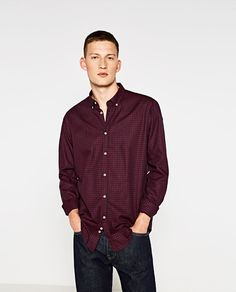 Image 1 of CHECK SHIRT WITH ELBOW PATCHES from Zara