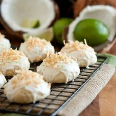 Coconut Lime Ricotta Cookies - WOW good! These taste like tropical donuts! #foodgawker