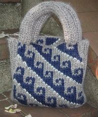 Hook Design Bag Knitting Loom ~*~ Free Pattern