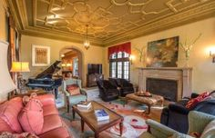 This magnificent Tennessee mansion has beautiful views, inside and out. House Tours, Living Area, Beautiful Homes, Transportation, Design Inspiration, Real Estate, House Design, Mansions, Furniture