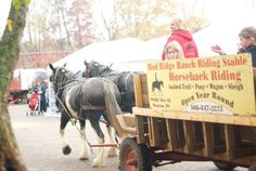 Take a hay wagon ride at the #WisconsinDells #AutumnHarvestFest