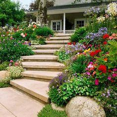 escadas floridas