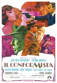 """Il conformista [The Conformist] - Bernardo Bertolucci 1970 - DVD01292 -- """"Based on the novel by Alberto Moravia. A weak-willed Italian man becomes a fascist flunky who goes to Paris to arrange the assassination of his old teacher, now a political dissident."""""""