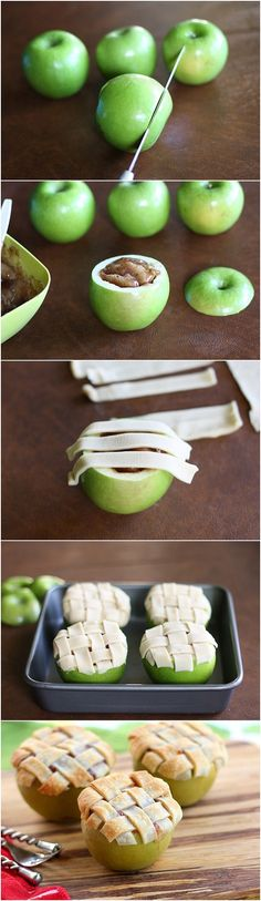 Apple Lattice Mini Pies