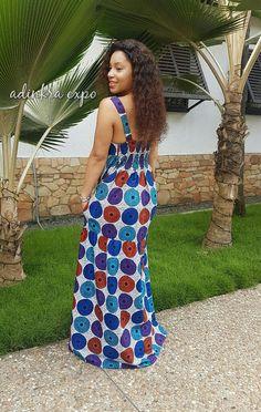 Yaya africain Print Maxi Dress / Ankara robe / robe de Ankara