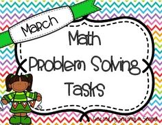 This includes 21 problem solving tasks. These can be used for anything you wish: morning work, seat work, warm up work, math centers, homework, etc. Second grade skills included:Multiple-step problems (two steps)Geometric shapes (cube, pyramid, cone)Counting MoneyTwo-digit addition & subtractionThree-digit addition & subtractionSkills included can be used to assist students through 2nd Grade Common Core Envisions Topics 11, 12, 13The purpose of these Math Problem Solving tasks is to ...