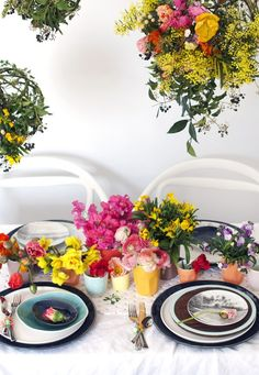 How to make floral moss balls for a hanging garden centrepiece. Photography and styling by Lisa Tilse for We Are Scout.