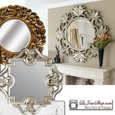 espejos con estilo nuevos y vintage dorados decapados plateados en madera resinas