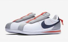outlet store 978c5 cc96f Kendrick Lamar x Nike Cortez Basic Slip Color  White Wolf Grey-Turf Orange