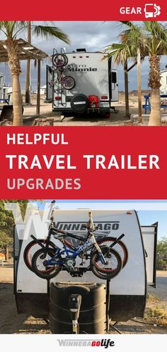 Looking to get out on the open road with your new travel trailer? Check out what this adventurous family of six added to their home on wheels to do just that. Here they share 7 helpful travel trailer upgrades that keeps them working and having fun on any Travel Trailer Living, New Travel Trailers, Travel Trailer Camping, Rv Travel, Camping Hacks, Rv Camping, Camping Ideas, Glamping, Travel Gadgets