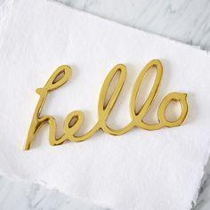 Brass Hello Word Object