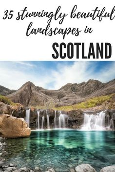 Scotland in the UK is full of beautiful destinations that you simply can't miss! From the fairy pools on the Isle of Skye, to Orkney, the Highlands and Glencoe and even the cities such as Edinburgh - you NEED to visit these stunning landscapes in Scotland!