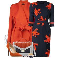Navy & Orange, created by carolinez1 on Polyvore