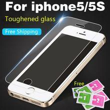 Vidro de proteção sobre o para iPhone4 4S 5 5S SE 6 6 S 7 7 Plus Premium Vidro Temperado Protetor de Tela HD Temperado película Protetora filme alishoppbrasil