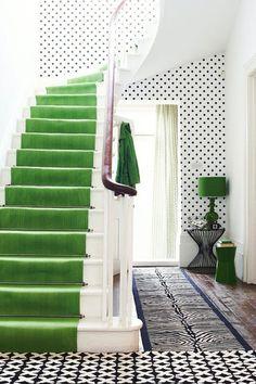Лестницы Бегун в pantone Цвет года 2017 зелени.