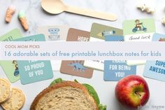 16 seriously adorable sets of printable lunchbox notes for kids, all FREE. | Cool Mom Picks