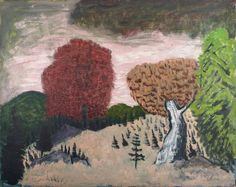 """Fall in Vermont,"" Milton Avery, 1935. oil on canvas, 32 × 40"", collection of The Milton and Sally Avery Arts Foundation."
