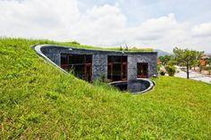 Einfamilienhaus mit bepflanztem Dach - Rasen braucht Substrat zwischen 5-7 cm
