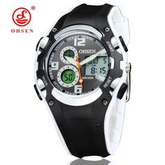 d2dad4ad1f9 OHSEN Dual Display Digital LED Watch Best Kids Watches