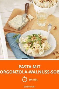 Pasta mit Gorgonzola-Walnuss-Soße - smarter - Zeit: 30 Min. | eatsmarter.de