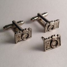 Men's New Photographer Photo Small Silver Camera by Lynx2Cuffs, $26.99