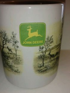 Collectible John Deere Coffee Mug Jumping Deer Plow Company