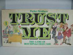 Trust Me Board Game Parker Brothers Vintage 1980s Etsy