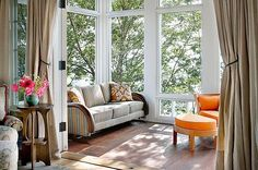 Epic 12 Small Sunroom Design Ideas As a Comfortable Relaxation Room How to add a sunroom into the house? A sunroom is used if you want to bask in the sun while at home? You don& need to go out just to feel the sun or . House Design, Relaxation Room, Interior Design, House Interior, Home, Small Sunroom, House With Porch, Traditional Porch, Home Decor