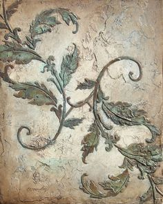Plaster Stencil Acanthus flourish, Wall Stencil, Painting Stencil, Furniture Stencil in 2019 Plaster Art, Plaster Walls, Inspiration Wand, Stencils, Damask Stencil, Faux Walls, Textured Walls, Ornate Picture Frames, Victorian Decor