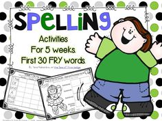Spelling & Writing Activities 5 Weeks Pack 1 {Fry's first 30 sight words} Word Work Games, Word Work Activities, Spelling Activities, Writing Activities, Learning Sight Words, Education And Literacy, Teacher Notebook, Kindergarten Lessons, Classroom Language