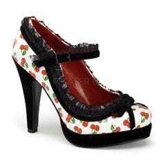 $65 Retro CHERRY Pin Up Shoes!