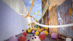 Brunswick Laneway Play by Design By Kai. C4D Camera Calibrator, HDR, Dynamics Simulation
