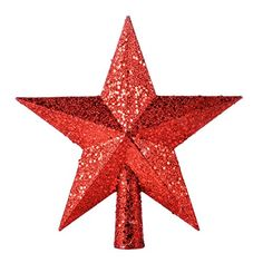 Petite Treasures Red Glittered Mini Star Christmas Tree Topper - Unlit (Red): Product Features:br Unlit br Double-sided design br Cone base makes for easy attachment to treebr Dimensions: x x Material(s): plasticbr Mini Christmas Tree, Christmas Tree Toppers, Christmas Decorations, Christmas Ornaments, Glitter Stars, Red Glitter, Five Pointed Star, Star Tree Topper, Fancy Houses