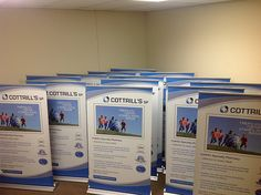 Tabletop retractable banner stands are great for any event or trade show.