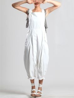 LYOCELL OVERALLS WITH THIN RESIN LAYER - JACKETS, JUMPSUITS, DRESSES, TROUSERS, SKIRTS, JERSEY, KNITWEAR, ACCESORIES - Woman - Syngman Cucala & Lurdes Bergada - Shop Online