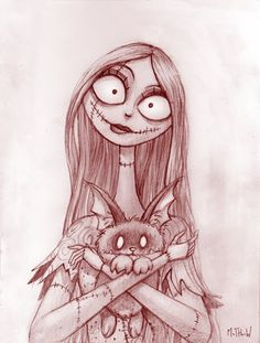 Resultado de imagen para sally from nightmare before christmas drawing