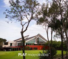 La elegante casa club del @MayakobaGolfCourse del Camaleon, es un lugar para cenar, relajarse y disfrutar mientras #JUEGASmayakoba #golf #CasaClub #PGATOUR #lujo #viajedegolf #vacacion #OHLClassic #JUEGAmayakoba
