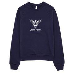 Vegan Power Unisex Raglan Sweater