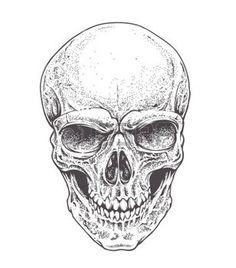 tte de mort dotwork dotwork style vecteur de crne art illustration