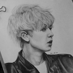 (Drawing: 26) (091215) This is still a WIP but and he looks like Sehun, whyyyyyyy. #chanyeol #parkchanyeol #exo #exok #exofanart #fanart #kpop #kpopfanart #drawing #art #pencil #graphite #sketch #instaart #monochrome #blackandwhite #WIP