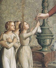 Antoniazzo Romano Annunciation (detail) 1485 - Google Search