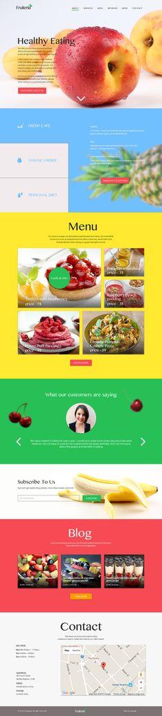 The website for Fruiteria on Behance