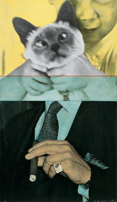 """Child With Kitten/Man With Cigar,"" 1991/2001...John Baldessari"