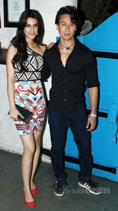 Tiger Shroff and Kriti Sanon at 'Heropanti' success bash. #Style #Bollywood #Fashion #Beauty