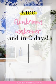 Cloakroom makeover - and in 2 days! Downstairs Loo, Wallpaper Panels, Tight Budget, Other Rooms, Decorating On A Budget, Powder Room, Day, Home Decor, Decoration Home
