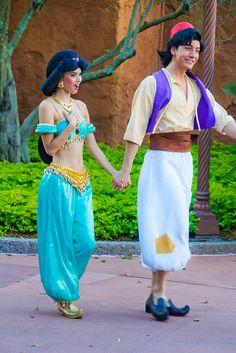 Jasmine & Aladdin, Walt Disney World, Orlando, Florida