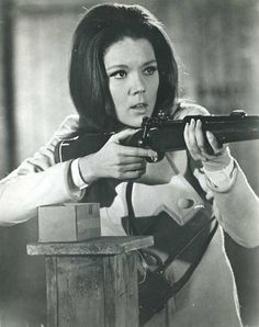 Diana Rigg in The Avengers.