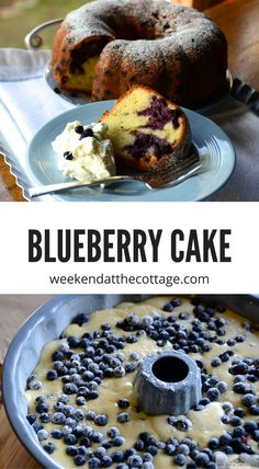 This WILD BLUEBERRY CAKE recipe is a family favourite! It call for wild blueberries but works well with regular blueberries all year round! Serve it for dessert with whipped cream, teatime, or a lunchbox snack. Blueberry Bundt Cake, Blueberry Desserts, Just Desserts, Dessert Recipes, Brunch Recipes, French Desserts, Sweet Desserts, Cupcake Recipes, Dessert Ideas