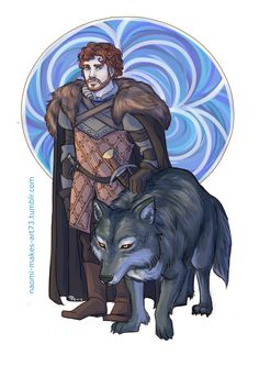 Young Wolf by naomi-makes-art73 on deviantART, Robb Stark and Grey Wind