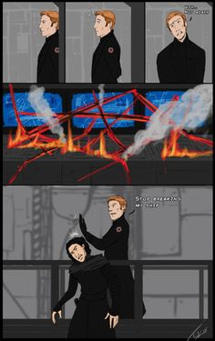 archetank: Quick Star Wars: TFA comic what I done. That last...  archetank:  Quick Star Wars: TFA comic what I done.  That last panel is also my (Hux) reaction when people try to spoil my Kylux fun.